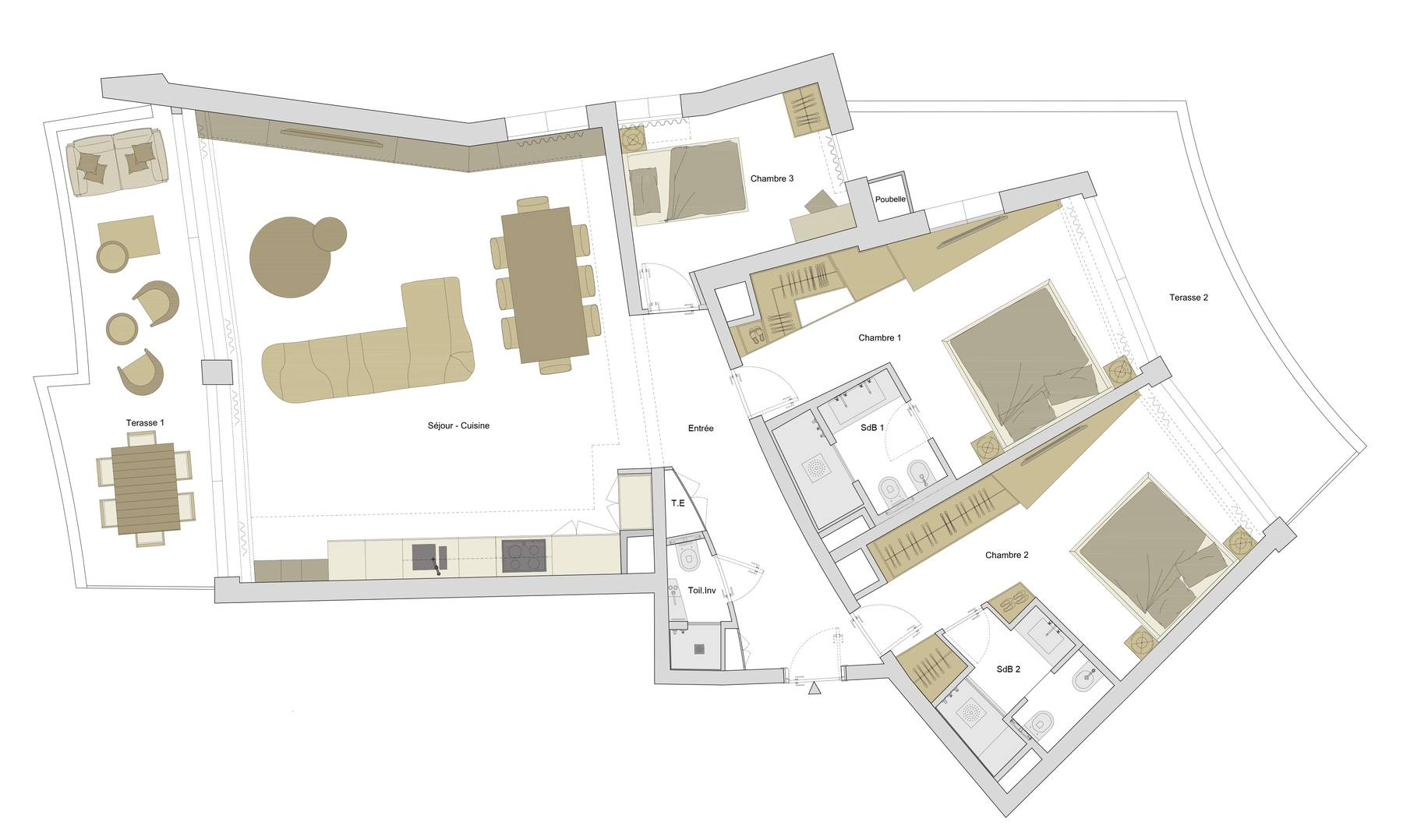 PLAN DE L'APPARTMENT